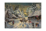 Russian Winter Giclee Print by Konstantin Alexeyevich Korovin