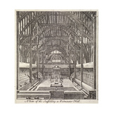 View of the Scaffolding in Westminster Hall, London, C1760 Giclee Print