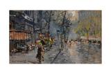 A Street in Paris, 1918 Giclee Print by Konstantin Alexeyevich Korovin
