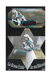 French WWI Postcard, 1914-1918 Giclee Print