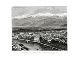 Grenoble from the Belledonne Range, France, 1886 Giclee Print