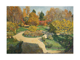 The Garden in Autumn, 1910 Giclee Print by Sergei Arsenyevich Vinogradov