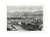 Grenoble and the Alps of Belledonne, France, 1879 Giclee Print