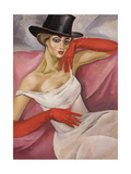 Lady in Top Hat Giclee Print by Boris Dmitryevich Grigoriev