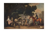 The Milbanke and Melbourne Families, (C179), 1929 Giclee Print by George Stubbs