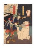Satomi Jirotaro Yoshishige (From the Series Stories of Beauty and Bravery (Biyu Suikode), 1866-1867 Giclee Print by Tsukioka Yoshitoshi