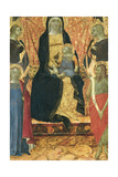 The Virgin and Child Enthroned Between Four Angels and Saints Giclee Print by Bartolomeo Bulgarini
