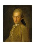 Portrait of Vasily Sergeyevich Naryshkin (1740-180), 1770S Giclee Print by Fyodor Stepanovich Rokotov