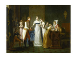 Marie-Louise of Austria Bidding Farewell to Her Family in Vienna, 13th March 1810 Giclee Print by Pauline Auzou
