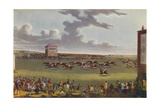 Newmarket Races, 1909 Giclee Print by James Pollard