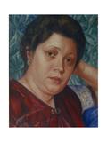 Portrait of the Opera Singer Vera Petrova-Zvantseva Giclee Print by Kuzma Sergeyevich Petrov-Vodkin