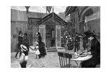 Exterior Cafe Scene, 19th Century Giclee Print