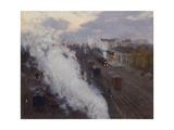 Kharkov Railway Station, 1892 Giclee Print by Sergei Arsenyevich Vinogradov