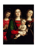 Madonna and Child with Saints Catherine of Alexandria and John the Baptist Giclee Print by  Perugino