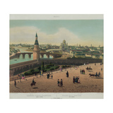 View of the Cathedral of Christ the Saviour and the Moscow Kremlin, Ca 1848 Giclee Print by Philippe Benoist