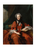 Portrait of Marie Leszczynska, Queen of France (1703-176) Giclee Print by Jean-Marc Nattier