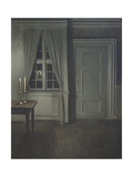 Interior with Two Candles Giclee Print by Vilhelm Hammershoi