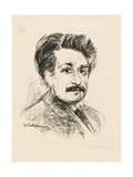 Portrait of Albert Einstein Giclee Print by Max Liebermann