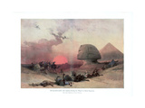 The Sphinx at Giza, Egypt, 1840S Giclee Print by David Roberts