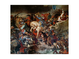 The Battle of Taillebourg, 21st July 1242 Giclee Print by Eugène Delacroix