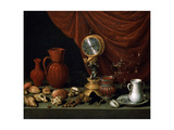 Still Life with a Clock, 1652 Giclee Print by Antonio Pereda y Salgado