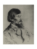 Portrait of the Artist Viktor Vasnetsov (1848-192) Giclee Print by Ilya Yefimovich Repin