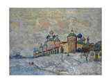 View of a Monastery, 1933 Giclee Print by Konstantin Ivanovich Gorbatov