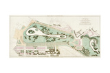 Plan of St James's Park, Westminster, London, 1710 Giclee Print