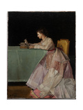 Seated Woman Giclee Print by Jules Adolphe Goupil