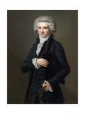 Portrait of Maximilien De Robespierre (1758-179) Giclée-Druck von Pierre Roch Vigneron