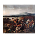 Roger I of Sicily at the Battle of Cerami in 1061 Giclee Print by Prosper Lafaye