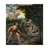 Hercules and the Lernaean Hydra (From the Labours of Hercule) Giclee Print by Lucas Cranach the Elder
