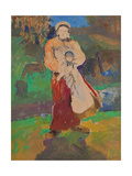Mother and Child in Landscape Giclee Print by Filipp Andreyevich Malyavin