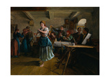 The Opening Dance, 1863 Giclee Print by Ferdinand Georg Waldmüller