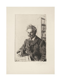 August Strindberg, 1910 Giclee Print by Anders Leonard Zorn