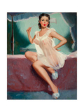Pin-Up in a Negligee Giclee Print by Peter Darro
