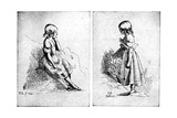Two Etchings by Queen Victoria, 1840 Giclee Print