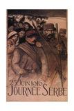 Serbia Day, 1916 Giclee Print by Théophile Alexandre Steinlen