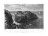 Carrick-A-Rede, Coast of Antrim, Ireland, 19th Century Impression giclée