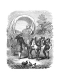 Country Carrier's Wagon with Hood, C1882 Giclee Print