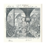 Engraved Ticket for the Coronation Ceremony of George III in Westminster Abbey' 1761 Giclee Print by George Bickham