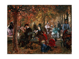 In the Jardin De Luxembourg (A Reminiscence of the Jardin De Luxembour), 1876 Giclee Print by Adolph Menzel