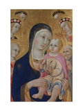 Madonna with Child, Saints Apollonia and Bernardino and Four Angels, Ca 1460 Giclee Print by  Sano di Pietro