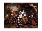 Louis of France, Grand Dauphin (1661-171), with His Family Giclee Print by Pierre Mignard