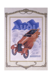 Poster Advertising Audi Cars, 1922 Giclee Print
