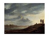 Sunset over the River, 1650s Gicléedruk van Aelbert Cuyp