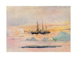 Shackleton's Ship, the Nimrod, in Mcmurdo Sound, 1912 Giclee Print by George Marston