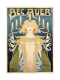 Bec Auer, 1896 Giclee Print by Henri Privat-Livemont