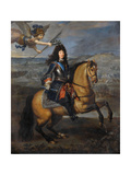 Equestrian Portrait of Louis XIV at the Siege of Namur Giclee Print by Pierre Mignard