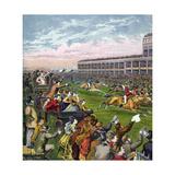 Horse Race, 19th Century Giclee Print